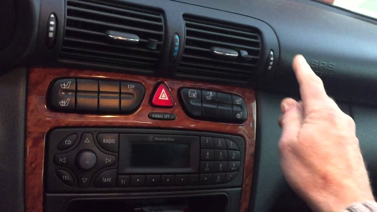 Temperature Controller Wiring Diagram 2 Way Light Switch Australia Mercedes W203 Hvac Climate Control , Vent Flap Test/reset - Youtube