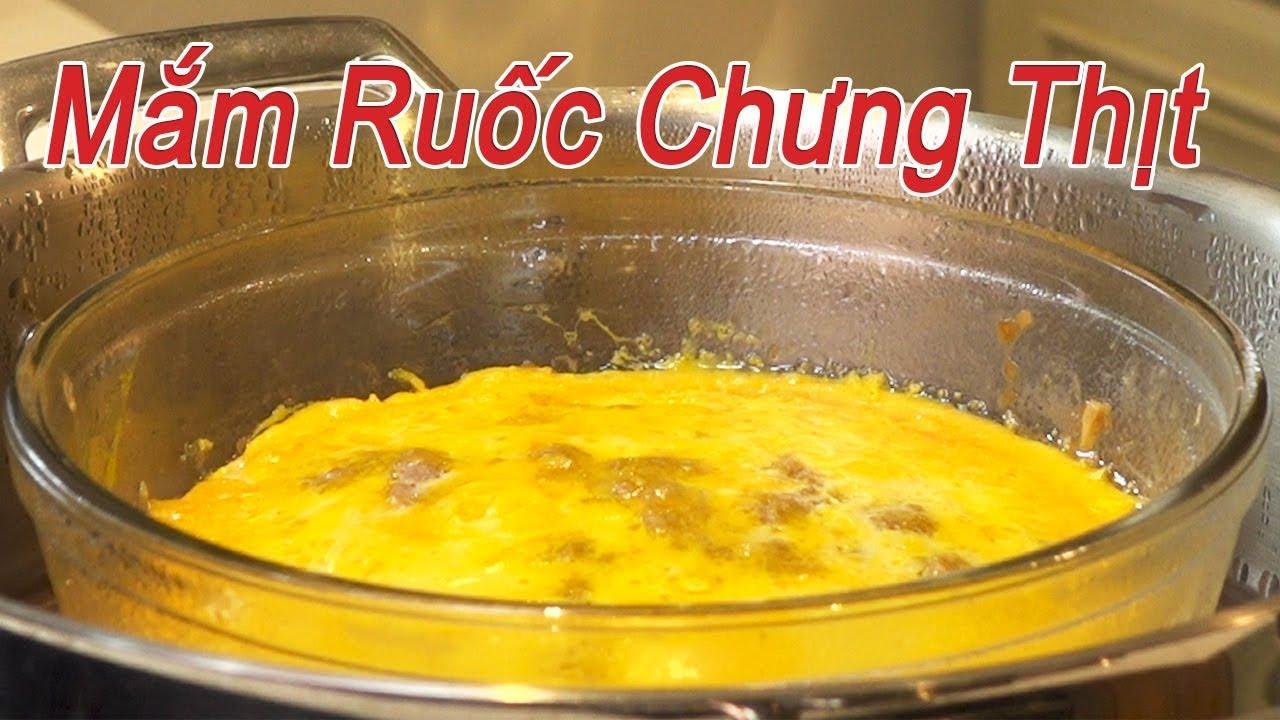 Mắm ruốc chưng thịt trứng | Cách làm mắm chưng thịt, món ăn dân dã, đậm đà hao cơm | By Bếp Bụi