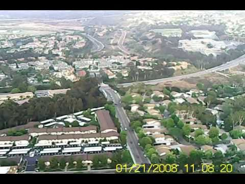 Flying RC Plane over San Diego CA With MD80 Camera onboard  Easy Star