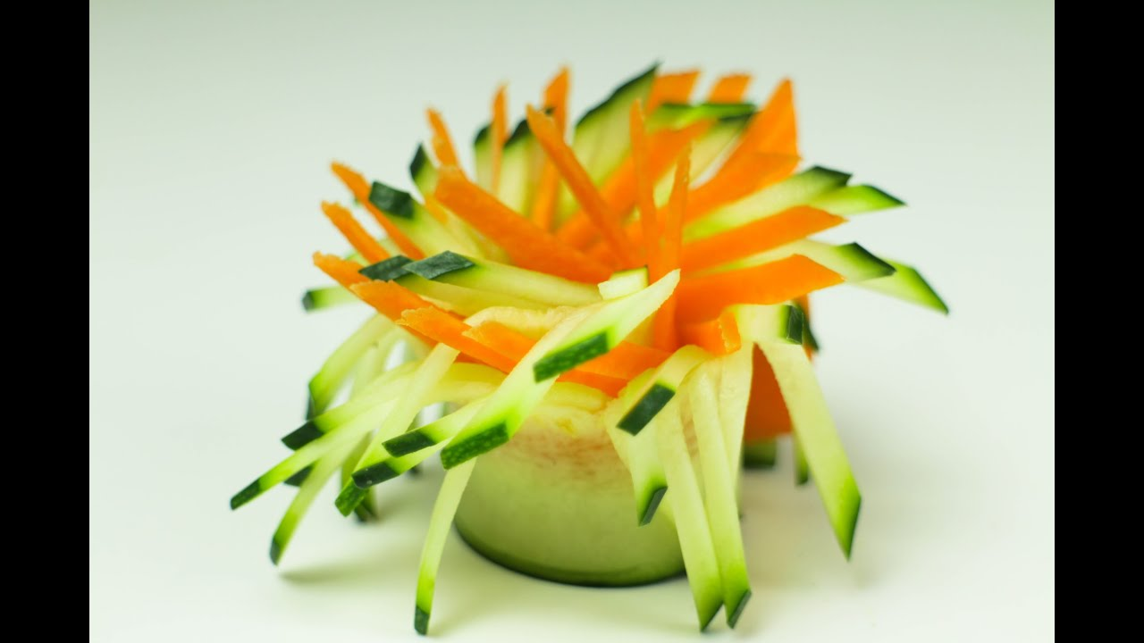 vegetable garnish tutorial youtube