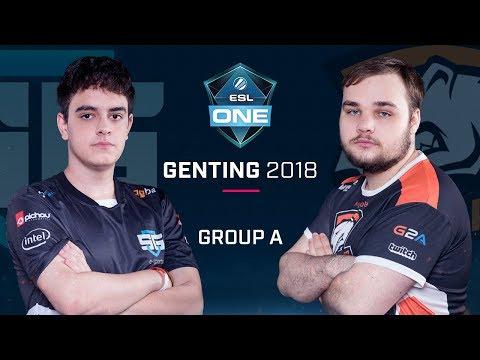 Dota2 - SGe vs. Virtus.Pro - Group A Opening  - ESL One Genting 2018