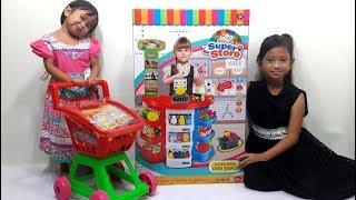 Mainan SUPERMARKET mini SUPER STORE 💖 Mainan Kasir Kasiran dan Berjualan Untuk Anak 💖 Let's Play 💖