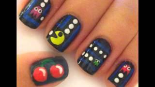 PACMAN nail art tutorial- ציפורני פקמן