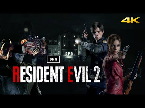 Resident Evil 2 Remake Claire B 4K 60fps HARDCORE Game Movie No Hud Crosshair No Commentary