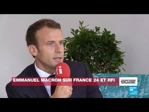 Entretien EXCLUSIF avec le président Emmanuel Macron sur France 24 et RFI