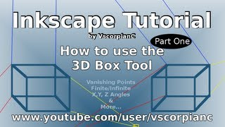 Inkscape Tutorial 3 Point Perspective Tool (Pt. 1) - by VscorpianC