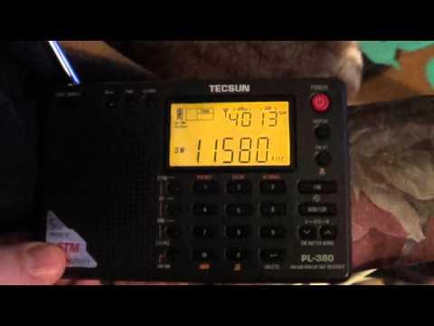 Radio Slovakia Tecsun PL 380 on 11580 Khz Shortwave