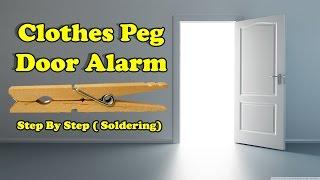 how to make simple door alarm by using clothes peg diy clothespin door alarm