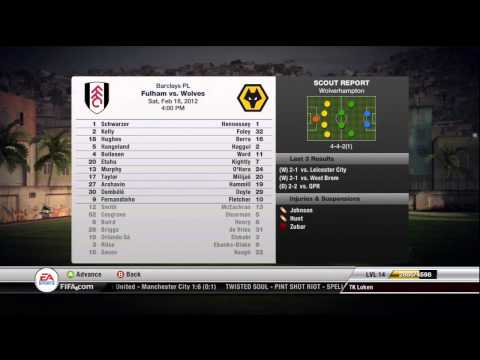FIFA 12 -  Fulham FC - Manager Mode Commentary - Episode 13 -