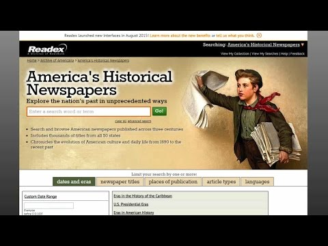 ON-DEMAND TRAINING: America's Historical Newspapers