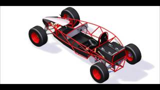 Ariel Atom Scaled Replica Single Seat Electric Go Kart   Diy Homemade Vehicle