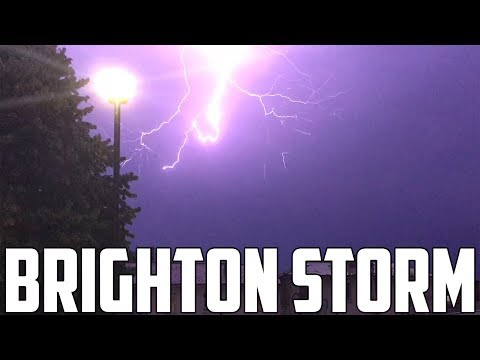 LIGHTNING ALMOST HIT MY HOUSE!! - Epic Storm in Brighton