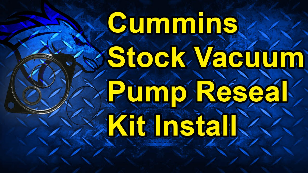 how to reseal a stock vacuum pump 94 02 dodge cummins 5 9l [ 1280 x 720 Pixel ]