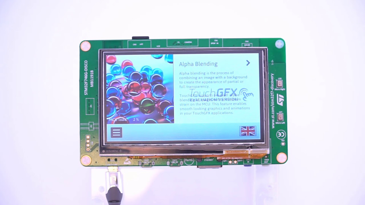 STM32F746G Discovery board - TouchGFX demo Running using only ONE  framebuffer ( only internal RAM)