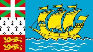 Bandera E Himno De San Pedro Y Miquelón (Francia) - Flag Of Saint Pierre And Miquelon (France)