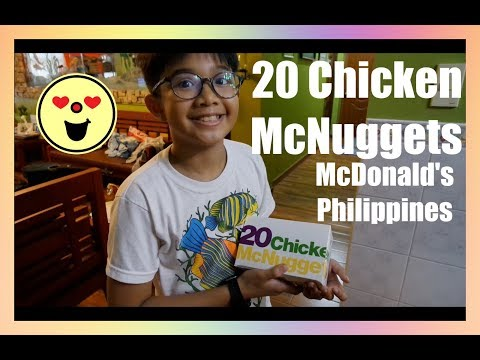 We Ordered 20 Chicken McNuggets | McDonald's Delivery! VLOG (PHILIPPINES)