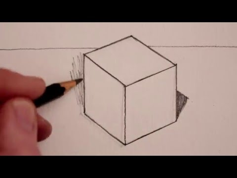 How to Draw a Cube: Step by Step