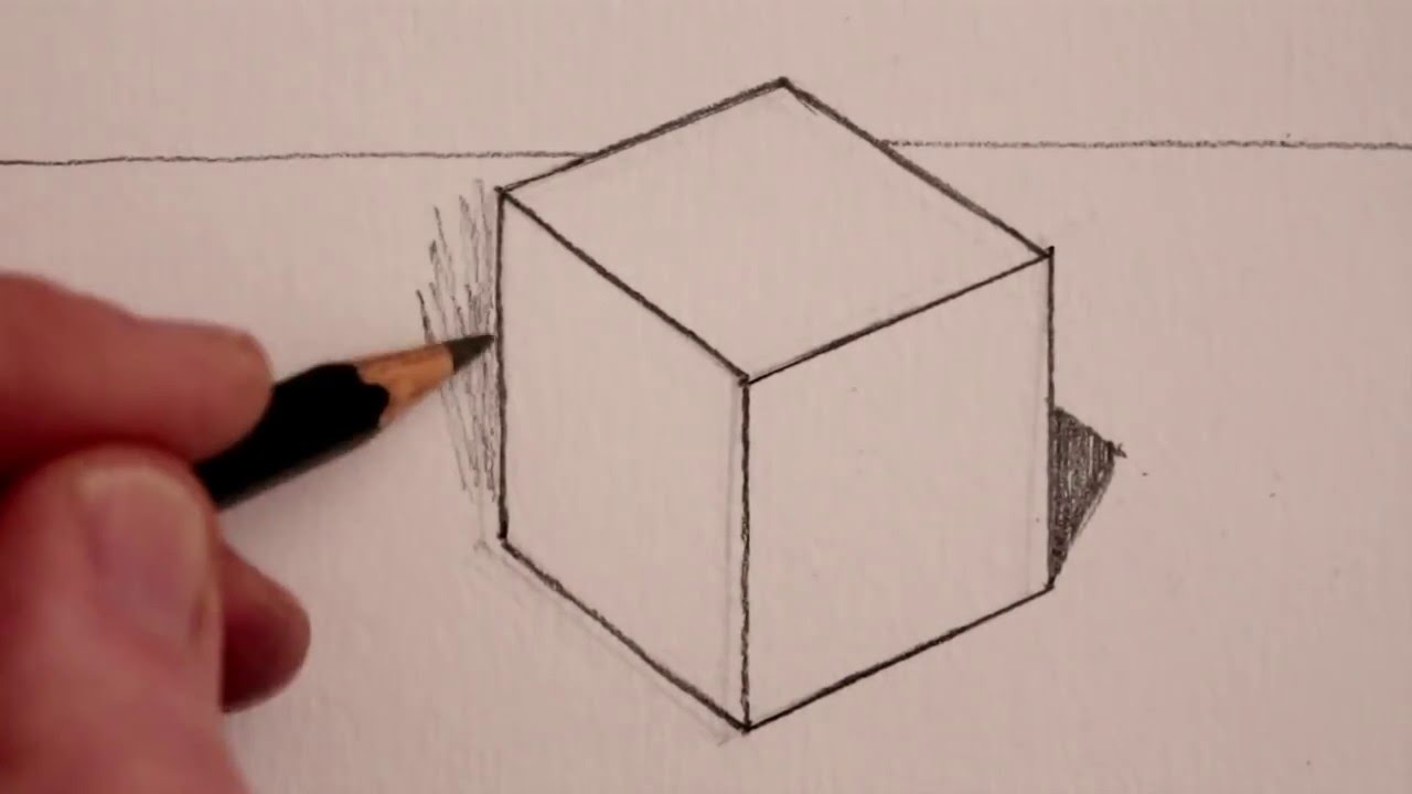 How to Draw a Cube  Step by Step   YouTube