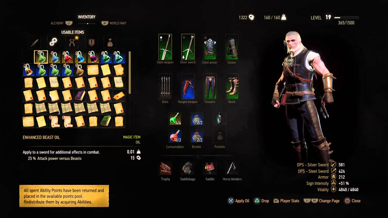 The Witcher 3 Skillung