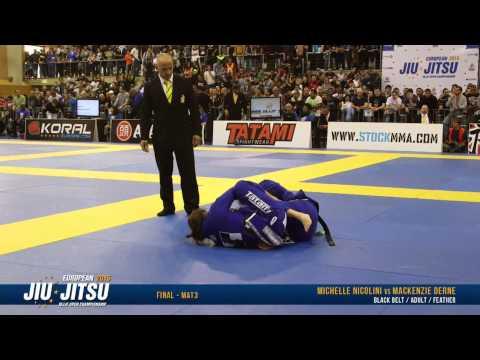European Open 2015 Black Belt FINALS: Adult Female - Feather (Michelle Nicolini vs. MacKenzie Derne)