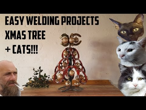 Easy beginners welding projects Christmas tree