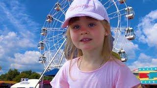 Леди Кейт в парке развлечений для детей. Аттракционы. Видео для детей в развлекательном центре.