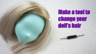 Doll Hair Rooting Holders Reroot Rehair Tools for Doll Breed Hair DIY Doll Hair Making Tools Supplies Doll Hair Rerooting Tool