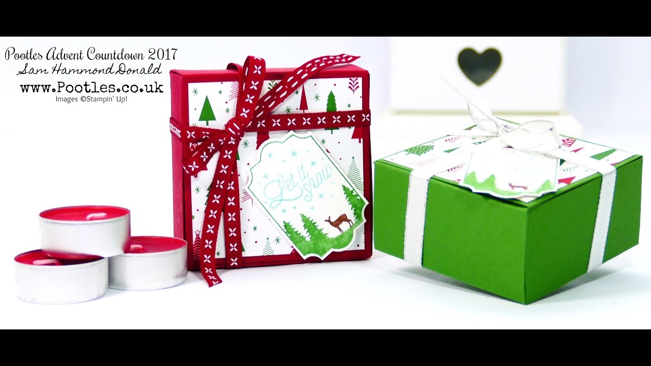 Download Pootles Advent Countdown #19 Ikea Candle No Glue Tuck & Close Box Tutorial