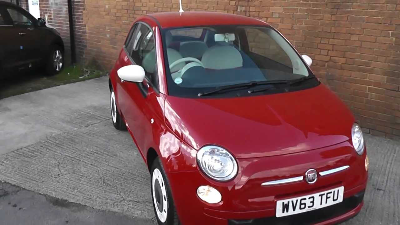 wv63tfu fiat 500 colour therapy in red at wessex garages gloucester youtube. Black Bedroom Furniture Sets. Home Design Ideas