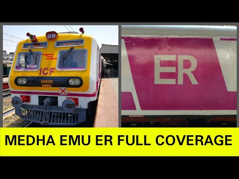 Brand new! MEDHA 3 phase EMU for ER Inaugural Run and Journey Coverage Part-2 [Full HD]