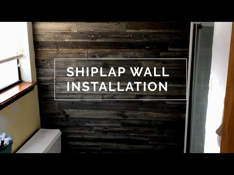 Shiplap wood accent wall