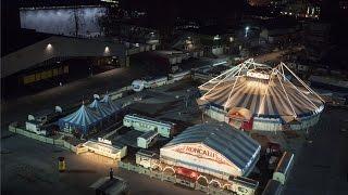 Circus Roncalli Aufbau am Gelände der Messe Graz