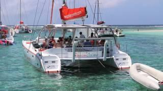 Full day cruise to ilot gabriel by catamaran cruises mauritius