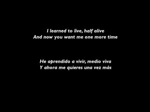 Christina Perri - Jar of Hearts with English / Spanish Lyrics