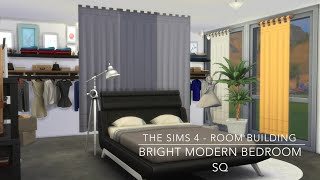 The Sims 4 - Room Building - Bright Modern Bedroom Sq