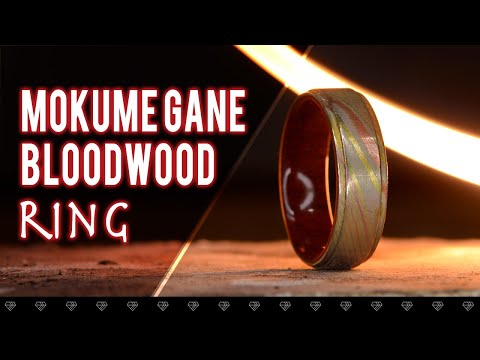 Mokume Gane/Blood Wood Ring - How It's Made/DIY
