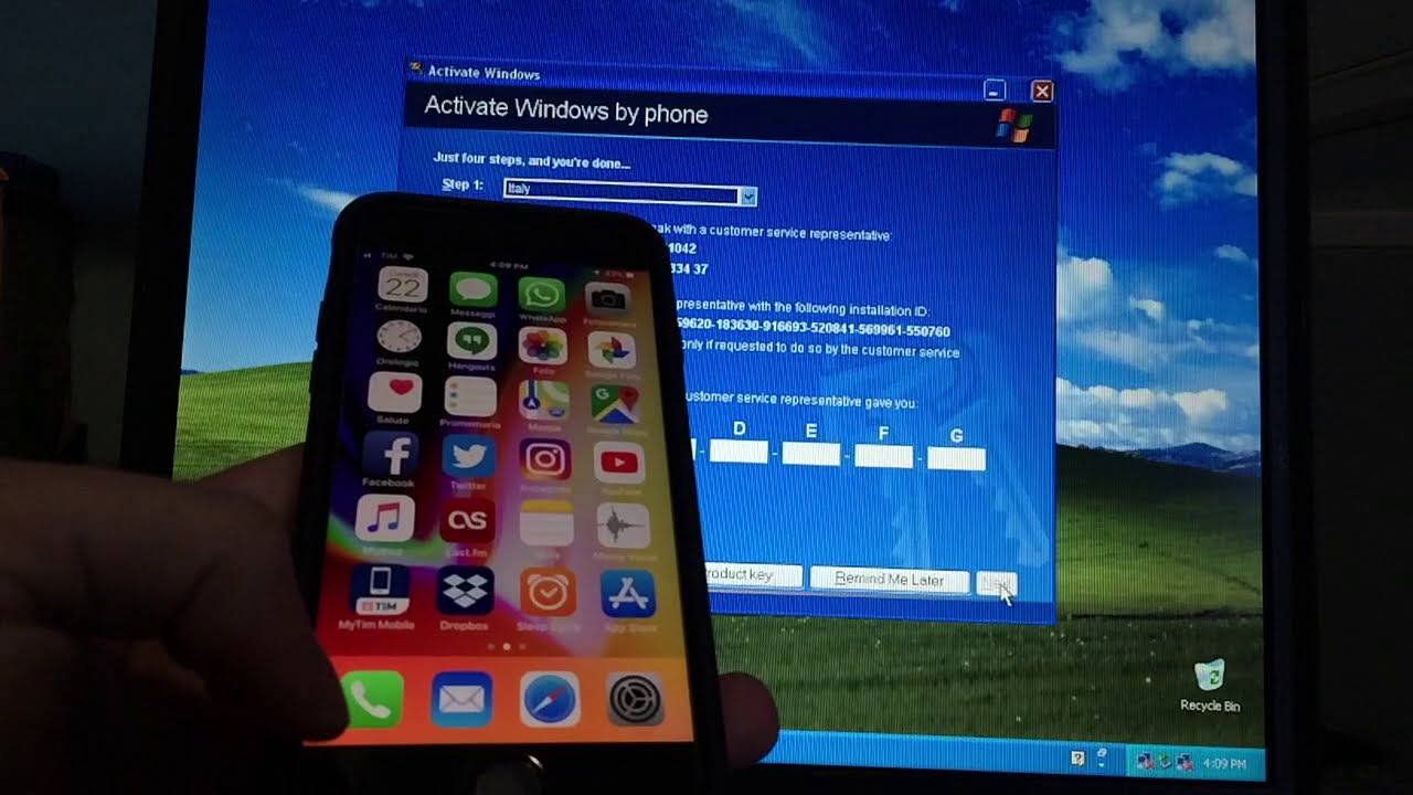 Activating Windows XP by phone in 2018 (or is it?) - YouTube