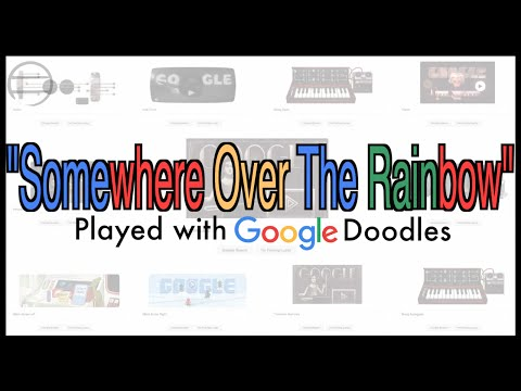 Check out this soothing rendition of 'Over the Rainbow' that uses only Google doodles