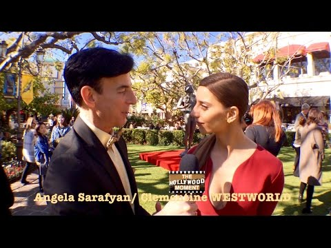 SAG AWARDS 2017 with WESTWORLD'S Angela Sarafyan The Hollywood Moment