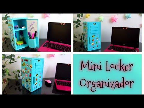 DIY // Haz un Mini locker organizador de escritorio con material reciclado