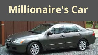 Why Millionaires Drive Used Honda Accord and Toyota Camry
