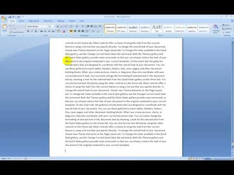 Setting your essay to MLA format in Word 2007
