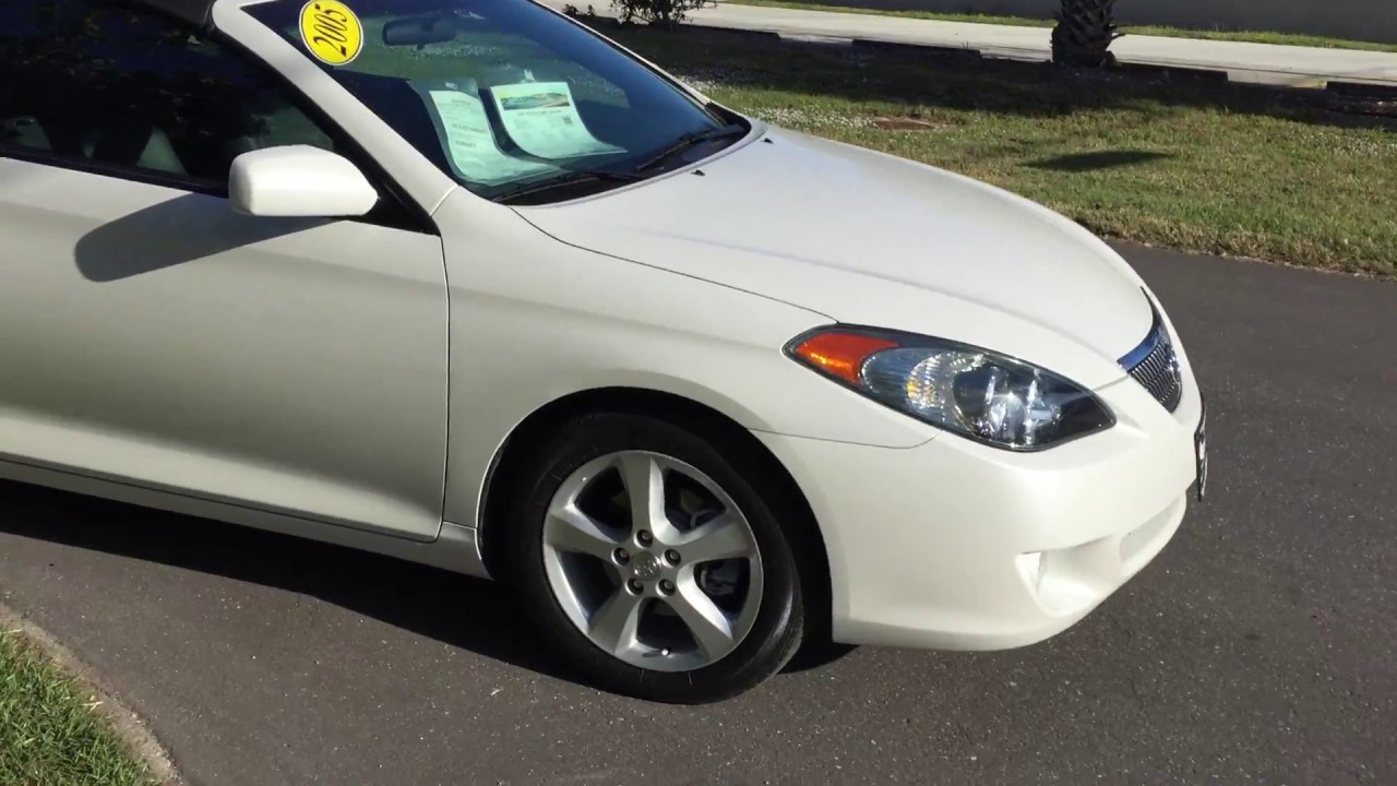 2005 Camry Solara Convertible 75K Miles Test Drive 941 915 7637