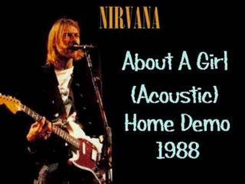Nirvana - About A Girl (Acoustic) (+Lyrics) (Kurt Cobain)