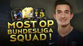 MOST OVERPOWERED FIFA17 BUNDESLIGA SQUAD !! 4 TOTW PLAYERS