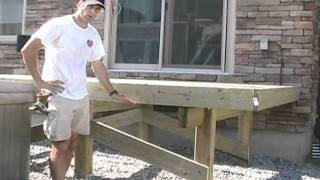 Building Free Standing Deck - Bracing Posts
