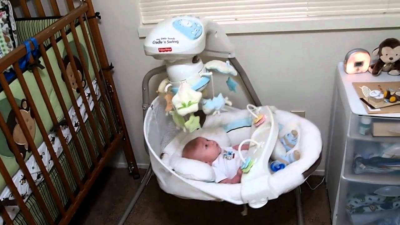 Fisher Price - My Litlle Lamb Cradle 'N Swing - YouTube