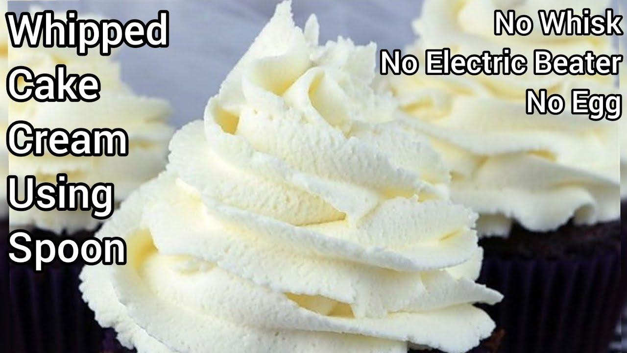 How to make cream for cake  How to make cake cream at home  Homemade  whipped cream for cake