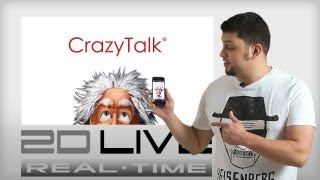 Real-time 2D Live - CrazyTalk app is here!