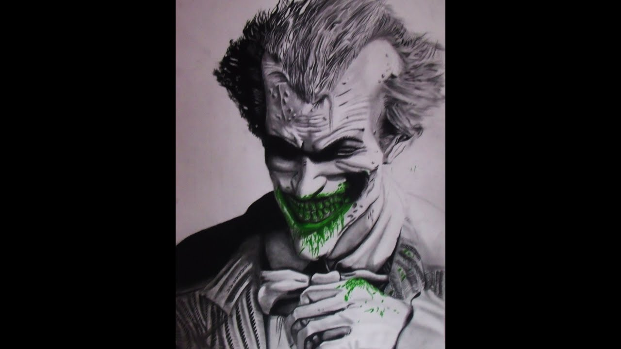 Joker Scribble Drawing : Drawing pictures of the joker